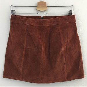 Auburn Suede Mini Skirt